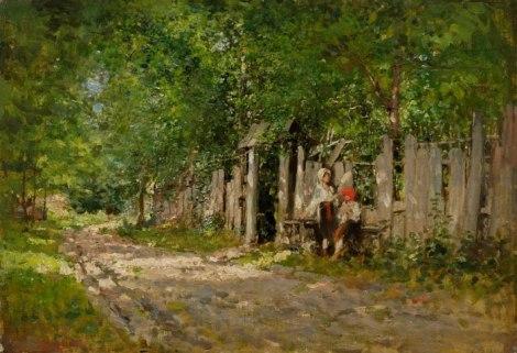 Grigorescu, Jeunes filles espionnent par la porte