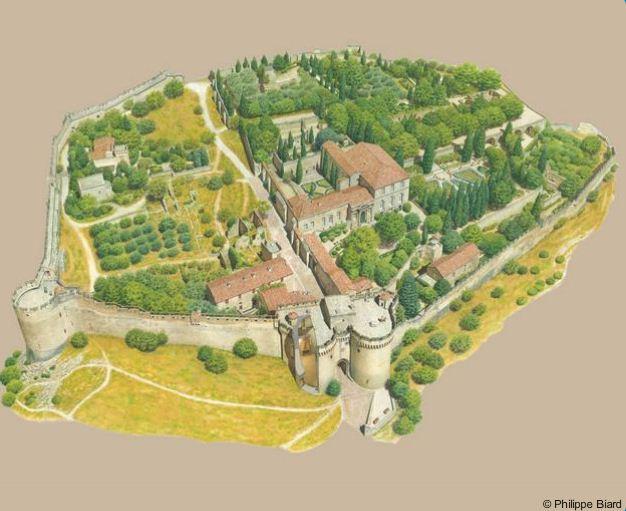 Plan du fort saint andr philippe biard le jardin des arts Entretien jardin villeneuve les avignon