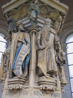 Claus Sluter, Le Puits de Moïse, ancienne chartreuse de Champmol, 1403-1406