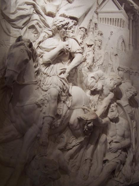 Puget, Alexandre et Diogène, vue de côté