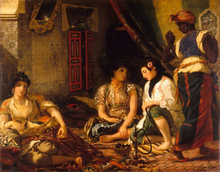 Delacroix, Femmes d'Alger dans leur appartement, 1834, Musée du Louvre
