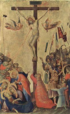 Simone Martini, Polyptyque Orsini, Scène de la Crucifixion, Musée Royal des Beaux-Arts d'Anvers
